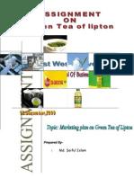 Assignment on Green Tea, Lipton