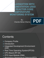 Familiarization With Instrumentation Used for Reactor Core Temperature