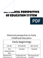 Historical Perspective of Education System