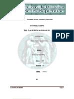 Plan de Gestion de Calidad 2012