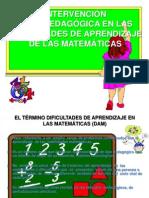INTERVENCIÓN PSICOPEDAGÓGICA EN LAS DIFICULTADES DE APRENDIZAJE DE