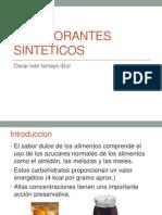 Edulcorantes sinteticos