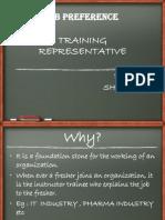 Job Preference (Training Representative)