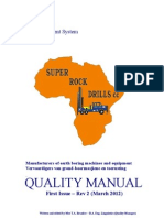 Quality Manual - Super Rock 2012 - Published