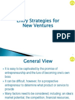 Entry Strategies for New Ventures 1