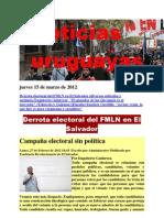 Noticias Uruguayas Jueves 15 de Marzo de 2012