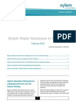 Xylem Water Solutions in the News February 2012
