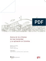 Acerca de los Crímenes de Lesa Humanidad y su Aplicación en Colombia