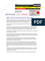 Honda Odyssey Recall Information - Honda Recalls & Problems