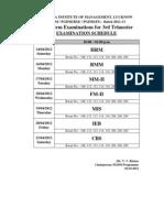 Exam Schedule 2011-13
