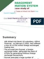 Rogue Currency Trades at Allied Irish Bank