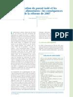 API - CAF - 2007 - L'allocation de parent isolé et les  obligations alimentaires - les conséquences de la réforme de 200