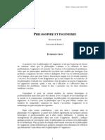 Philosophie et  ingénierie