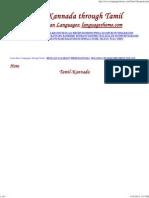 Learn Kannada Through Tamil