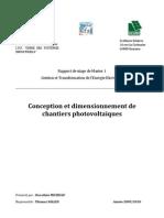 Rapport Stage Conception Et Dimensionnement Photovoltaique Dorothee Micheau 2010