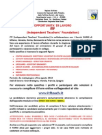 Selezioni ITF Independent Teacher's Foundation 2012