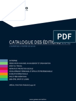 Catalogue des Éditions GERESO 2012