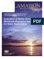 Evaluation of Newly Developed MBR Systems for Water Reclamation