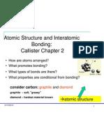 Week-1 Atomic Structure and Inter Atomic Bonding