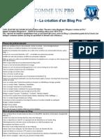CheckList Blogueur Pro Installation