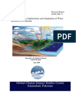Climate Change Implications and Adaptations of Water Resources in Pakistan (GCISC-RR-13)