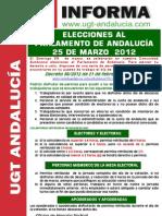 UGT INFORMA ELECCIONES ANDALUCÍA