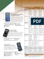 Testequipmentshop.com Lab Test Equipment Component Tester 0.1 pF to 20 mF TSE 815 Data Sheet