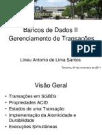 Banco de Dados, Gerencimaneto de Transacoes