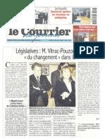 Article dans le courrier des Yvelines le 22 fevrier 2012
