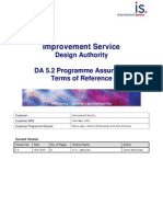 Is DA5.2 Programme Assurance Terms of Reference v1.0F