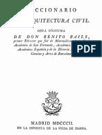 1802 Benito Bails Diccionario Arquitectura Civil