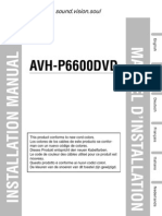 Avh-p6600dvd Installation Manual en Fr de Nl It Es
