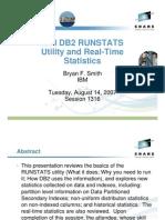 IBM DB2 RUNSTATS Utility and Real-Time Statistics