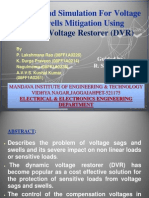 Dynamic Voltage Restorer (DVR) PPT