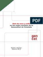 Guía de usos y estilo en las redes sociales de la Generalitat de Cataluña
