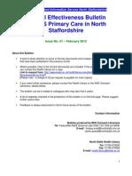 Clinical Effectiveness Bulletin no. 62 February 2012