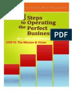 STEP III the Mission & Vision-E Book Edition PDF (Sample)