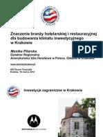 XIX Forum Turystyki w Krakowie 15 Marca 2012 Monika Pilarska