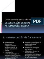 Descripción general de la metodología básica curricular
