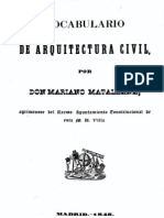 1848 M Matallana Vocabulario Arquitectura Civil