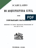 1848 M Matallana Vocabulario Arquitectura Civil