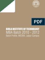 BITM Profile Mesra Lalpur