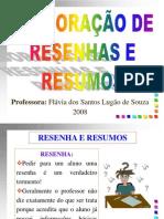 ELABORAÇÃO DE RESENHAS E RESUMOS - Mine Curso - 2008