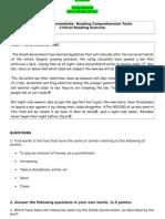 Practice Intermediate Reading Comprehension Texts