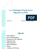 The Challenges Oracle Forms Migration to ADF