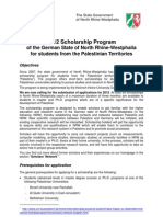 Call2012 NRW-Scholarship Program PAL