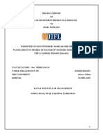 Project Report on IIFL