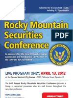 44th Annual Rocky Mountain Securities Conference