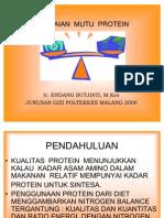 Penilaian Mutu Protein
