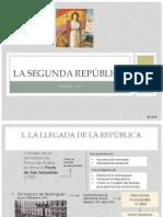 Tema 13 La II República